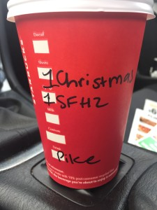 I just get a tall coffee, with a shot of Christmas blend espresso and 1 pump of sugar free hazelnut.