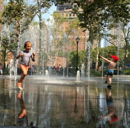 Battery Park water park
