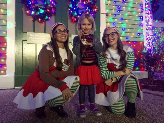 Holiday in the Park, elves before meeting Santa
