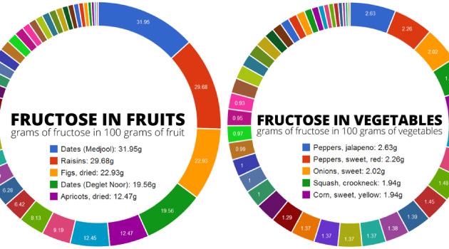 Fructose in Fruits, Veggies, Nuts, Seeds, Legumes  Grains - Family - food charts