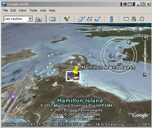 Panoramia overlay in Google Earth