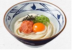 丸亀製麺、明太釜玉うどん