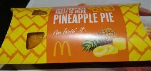 マクドナルドのパイナップルパイパッケージ