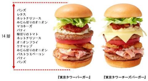 モスバーガーの東京タワーバーガー