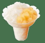 ミスドのかき氷コットンスノーキャンディ・白桃