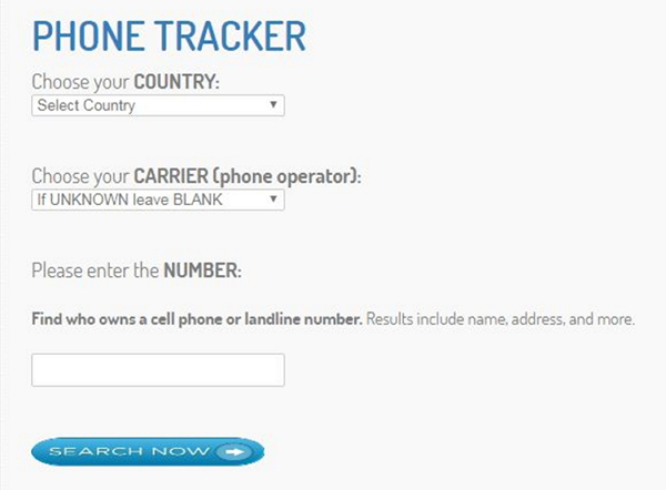 Free Cell Phone Tracker by Number