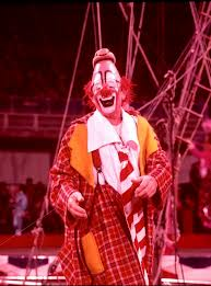 Lou Jacobs performing in the circus ring - color photograph