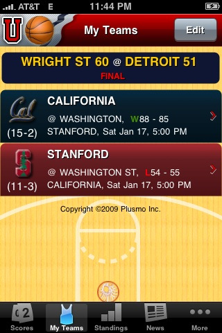College Basketball Live Plus iPhone App Review