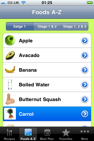 Baby Wearing Food iPhone App Review