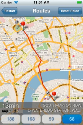 London Bus Mapper iPhone App Review