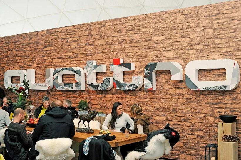 Graphism für Audi Quattro Lounge - Fanaticar Magazin