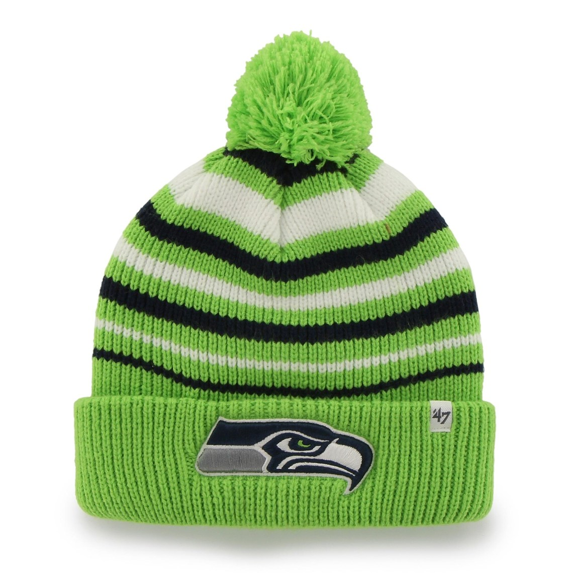 Seattle Seahawks '47 Brand Incline Cuffed Beanie - Neon Green