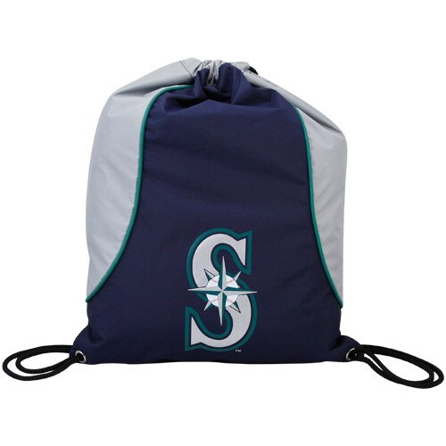 Seattle Mariners Navy Blue-Gray Axis Drawstring Backpack
