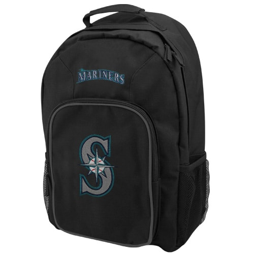 Seattle Mariners Black Southpaw Backpack