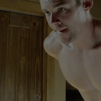 Benjamin Walker as David and Brian J. Smith as George shirtless in The War Boys