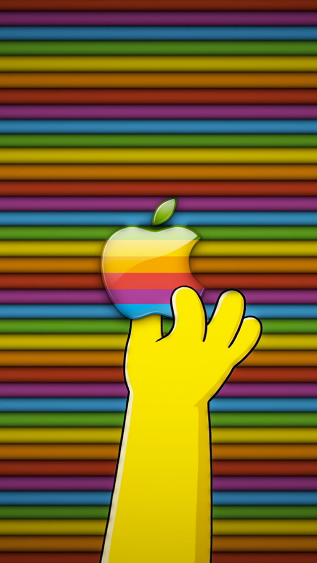 The Simpsons 3d Wallpaper Sfondi A Tema Logo Apple L Apple