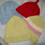 Knitting – baby hats