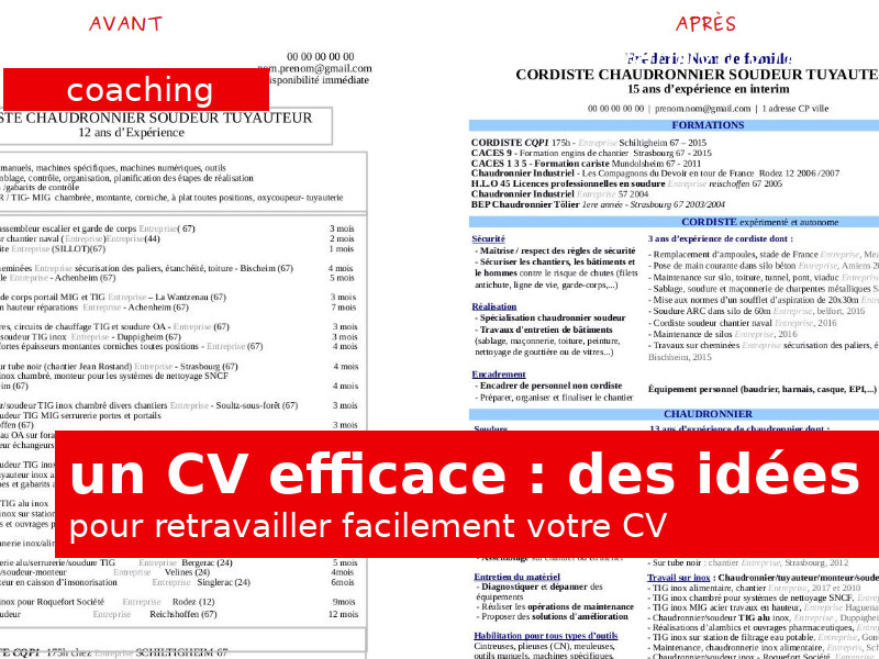 comment retravailler son cv