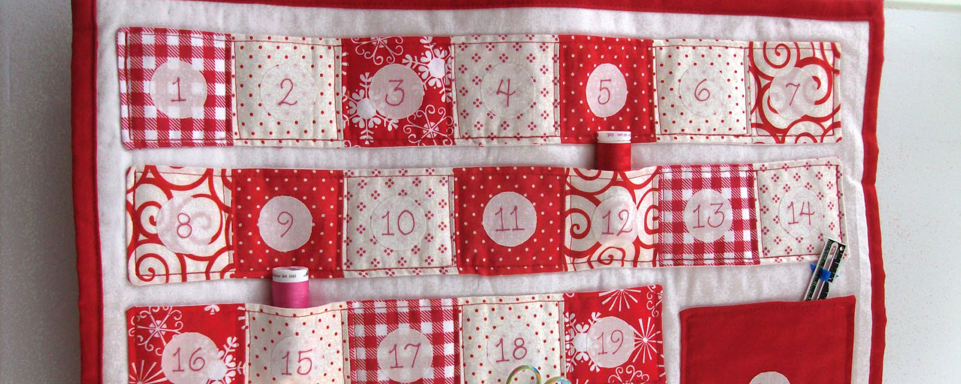 Pinterest Christmas Quilted Wall Hangings Quilted Advent Calendar Tutorial Fanny Lu Designs