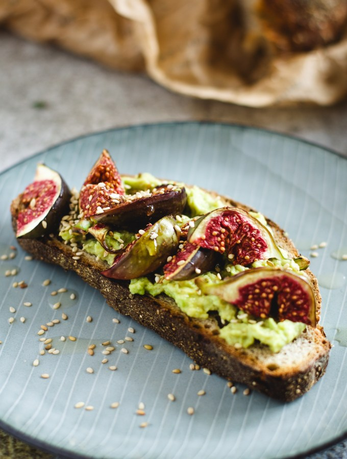 Avocado and Tahini Tartine with Balsamic