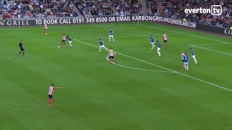 (Mirallas' defence contribution, we saw this a few times in the first-half)
