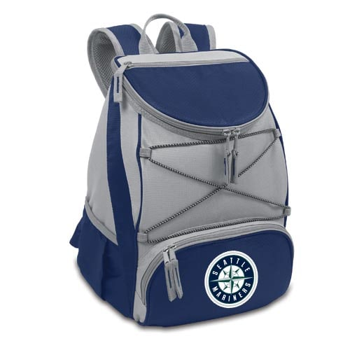 Seattle Mariners Backpack Cooler - Ash/Navy Blue