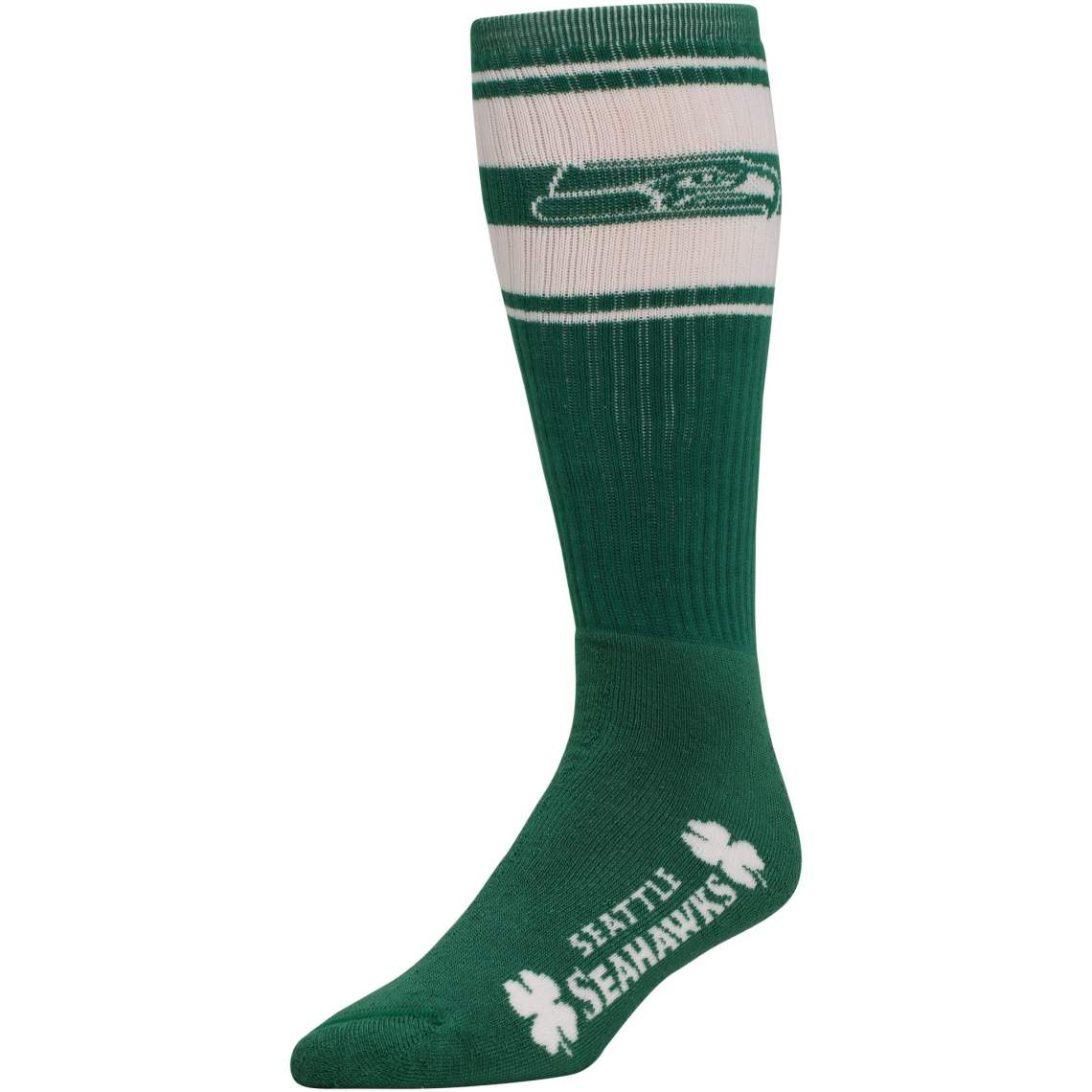 Seattle Seahawks St. Patricks Day Super Tube Socks Kelly Green