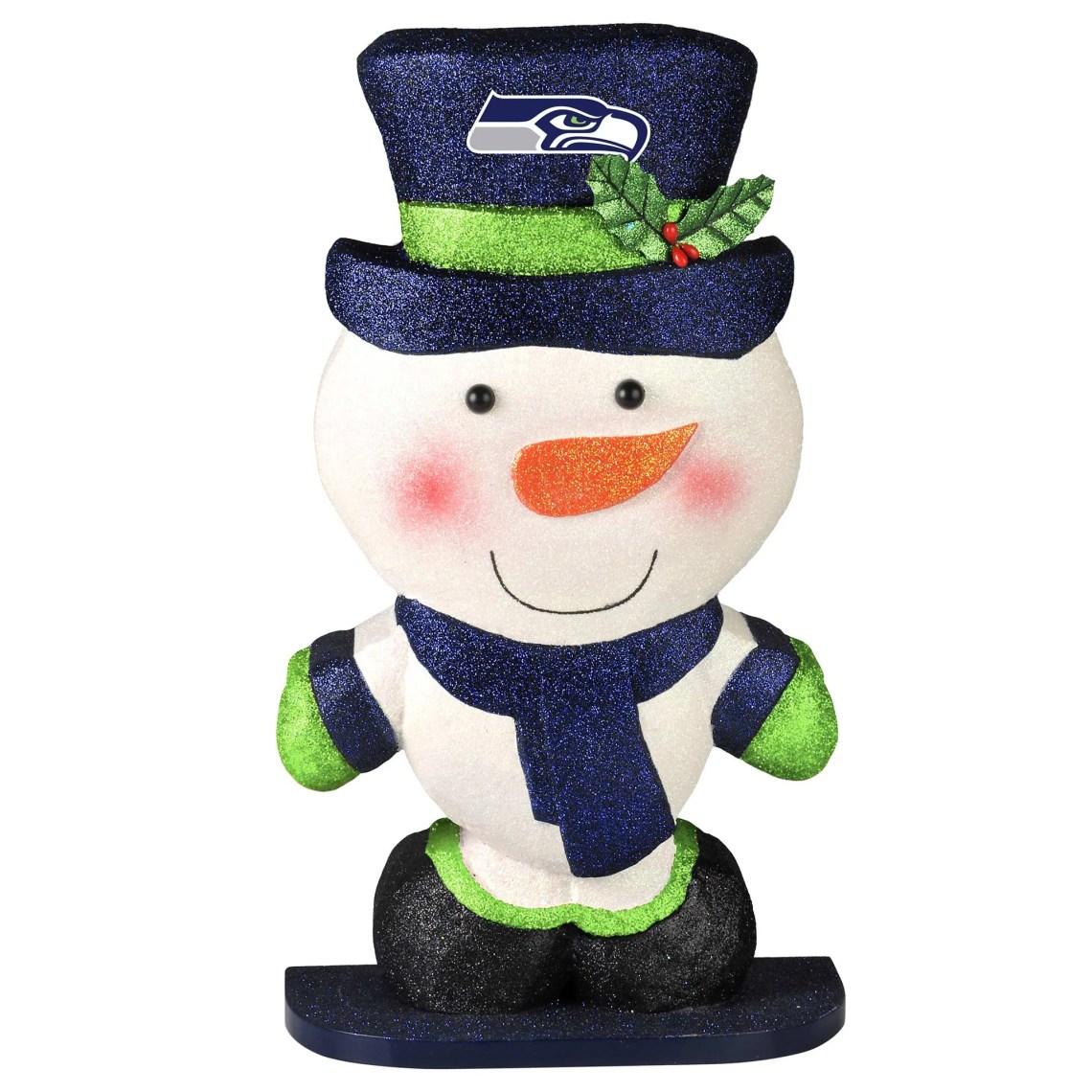 Seattle Seahawks Polystyrene Snowman Figurine