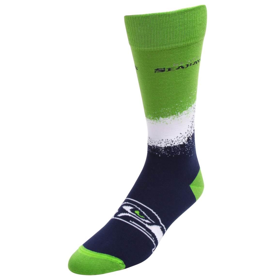 Men's For Bare Feet Seattle Seahawks Marquee Socks