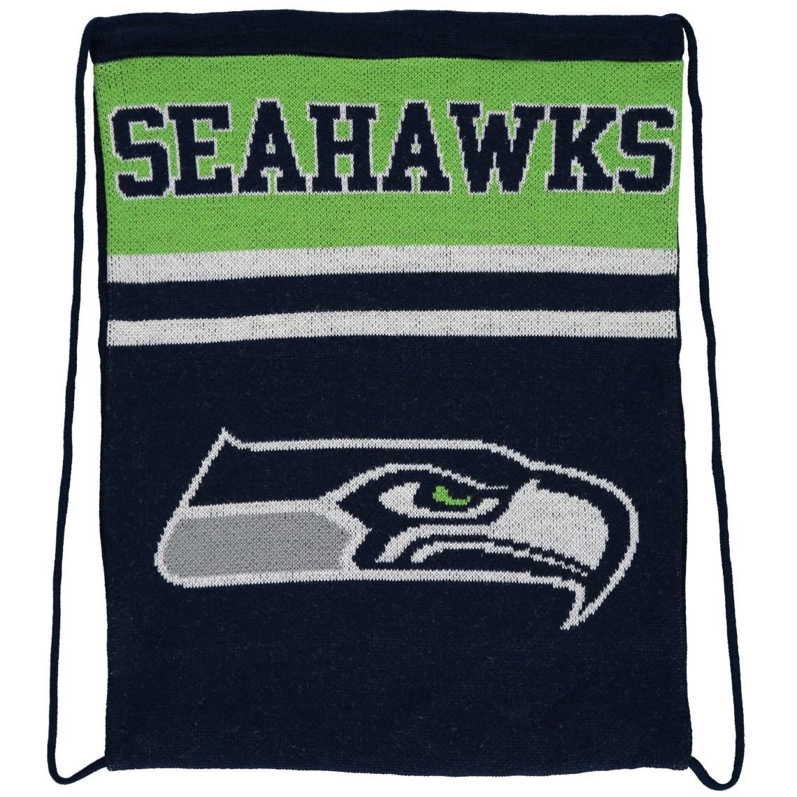 Seattle Seahawks Knit Drawstring Backpack