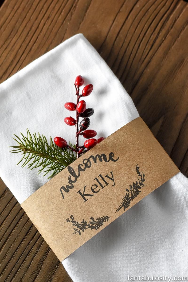 christmas name card template