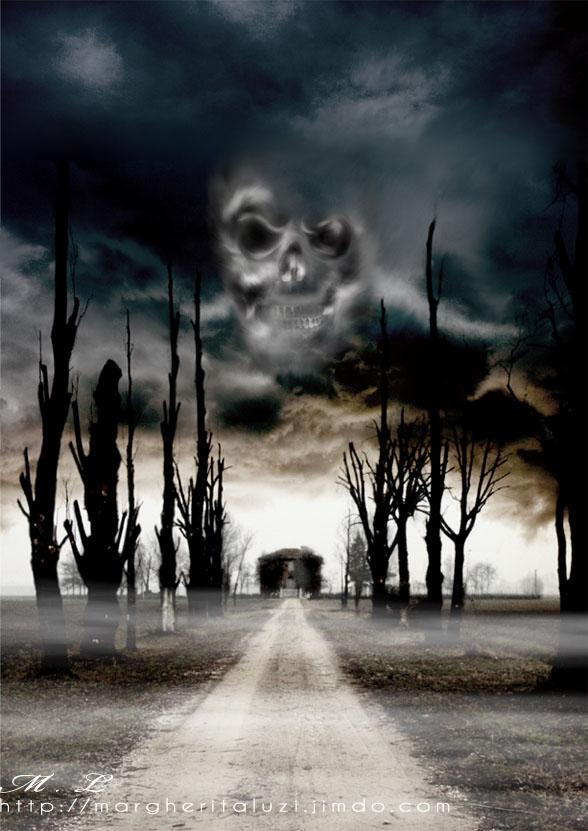Free Download Wallpaper 3d Graphic Haunted House 588 X 831pix Wallpaper Surreal Art Photo