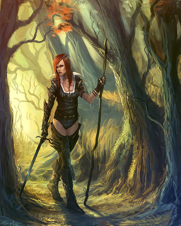 Tree Girl Wallpaper Dark Gothic Amp Punk Fantasy Art Featuring Standalone Complex