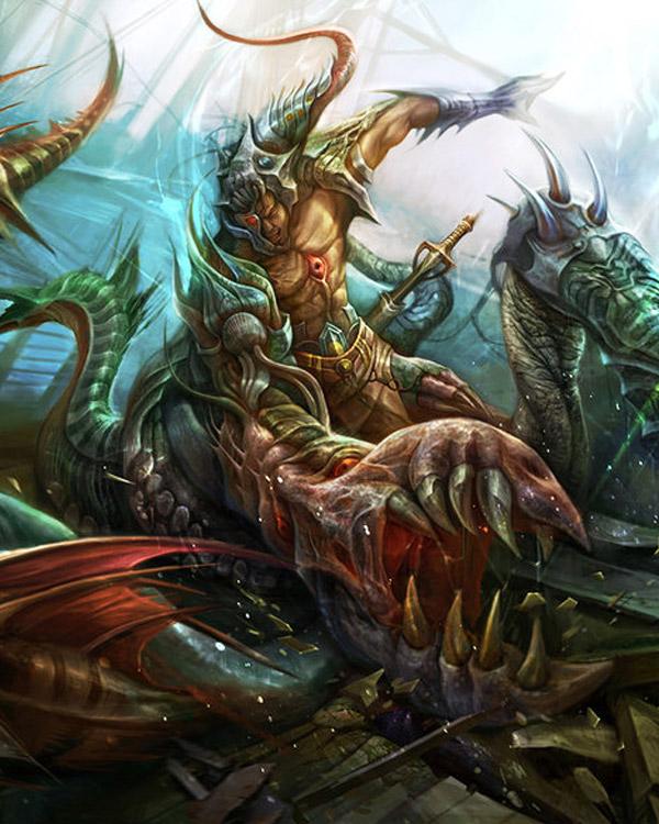 God Of War D The Fantasy Art Of Digital Painter Derricksong Fantasy
