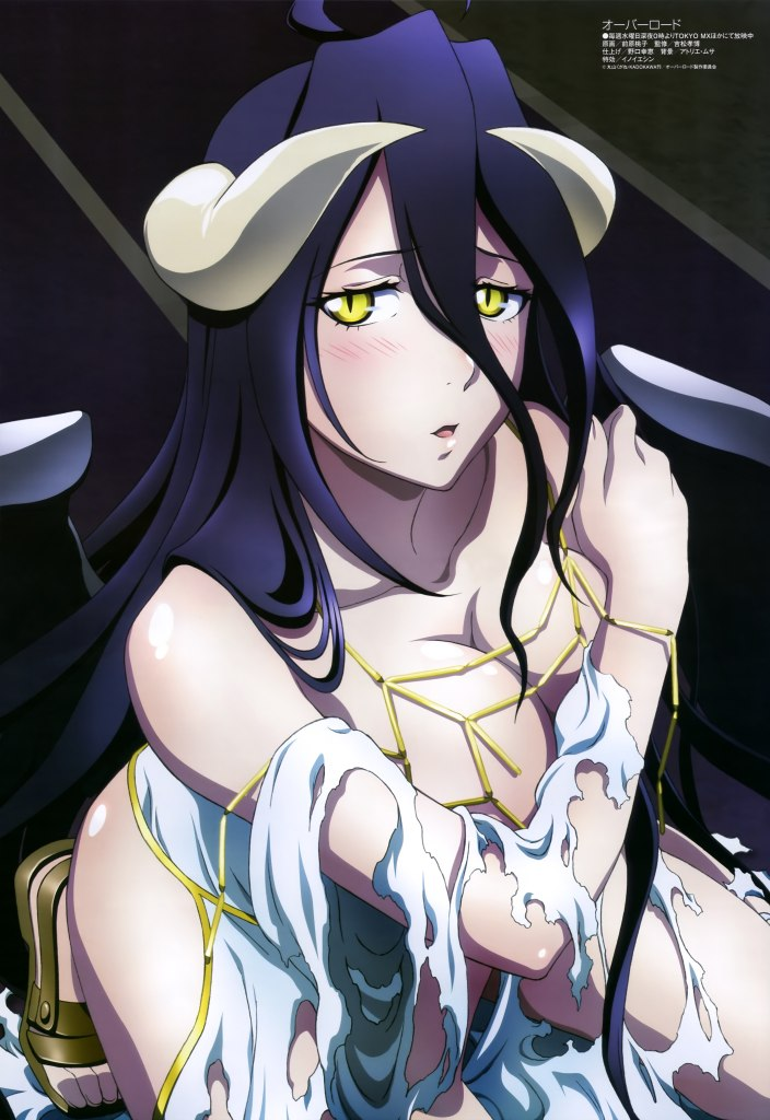 yande-re-329461-albedo_overlord-breast_hold-cleavage-dress-horns-maehara_momoko-overlord-torn_clothes-wings