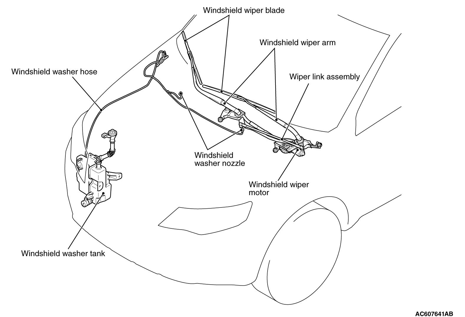 nissan wiper motor wiring schematic
