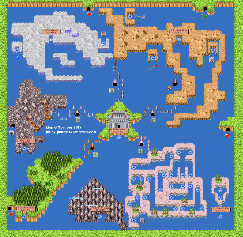 Super Adventure Island Maps