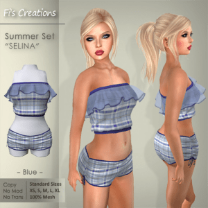 Fi's Creations - SELINA blue Summer Set - PICTURE