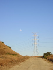 Moon Over Power Line