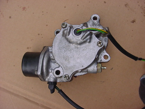 The Toyota FJ80 Center Diff Lock Actuator Motor Removed from the Vehicle