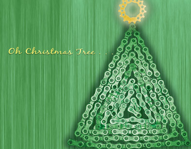 Bike chain christmas card