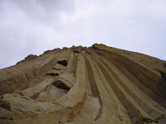 nose view of devil's tower, wyoming, august 2006