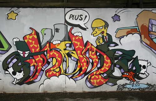 The Simpsons Graffiti Mural