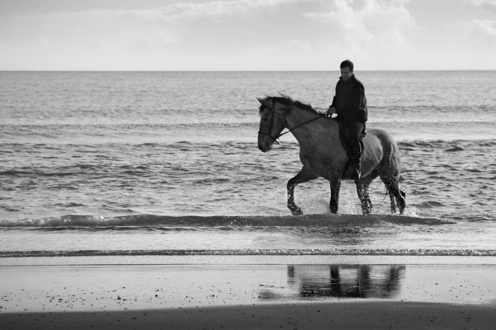 Horse and Rider at Inchadoney