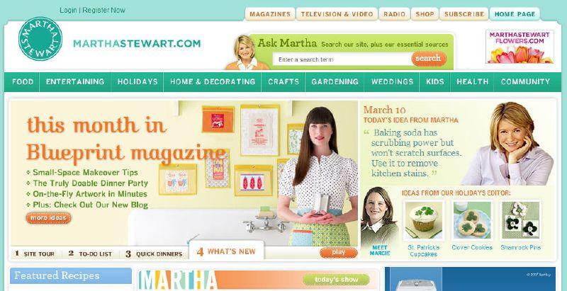 Martha Stewart *New* Website