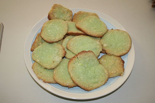 Plate of pistachio cookies