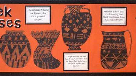 Greek Vase display