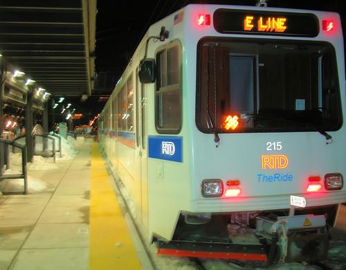 Denver Light Rail Lincoln Station