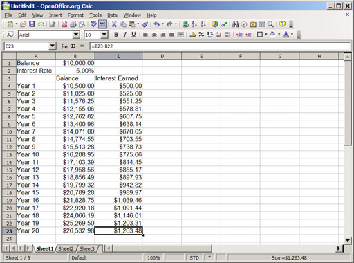 An Introduction To Compound Interest With Spreadsheets, Part 1