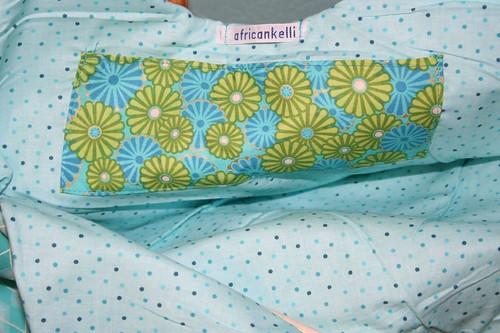 Fun floral pocket inside spring bag 2